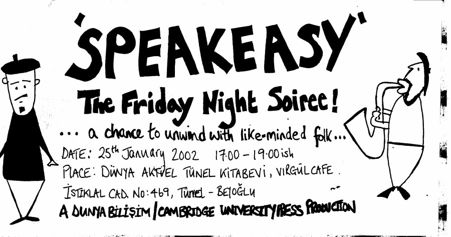 """The poster for the """"Speakeasy"""" poetry evenings"""