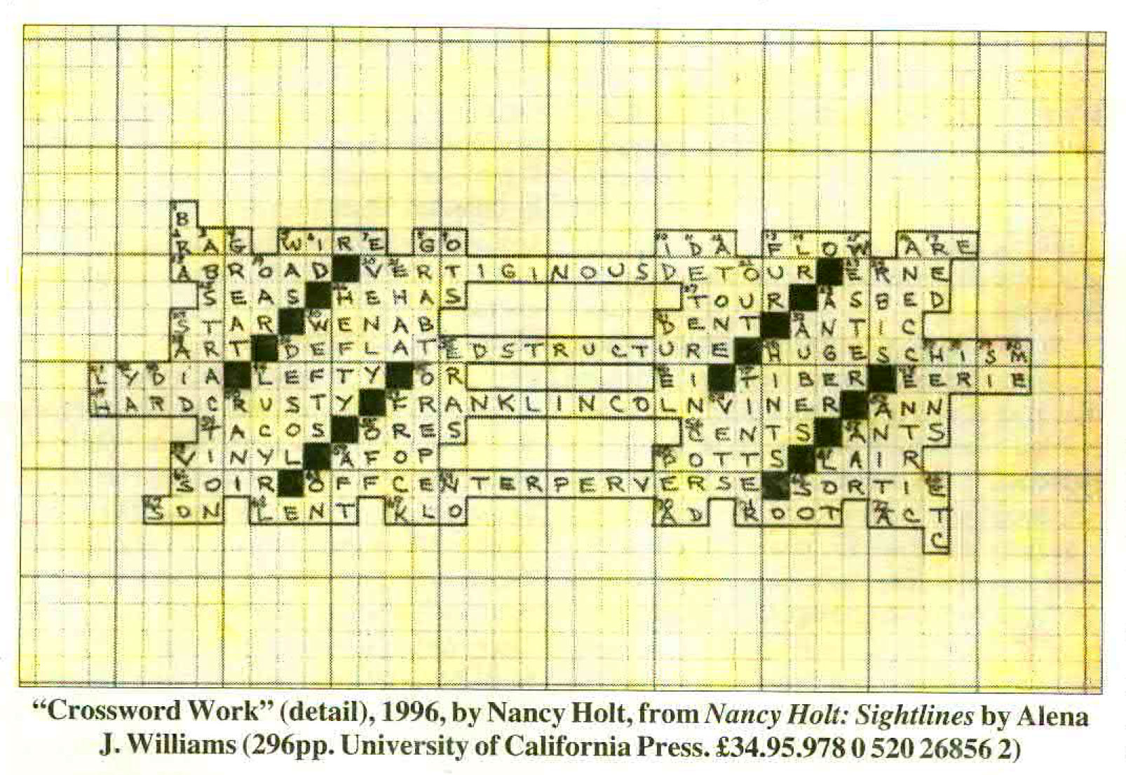 This Picture Is Not A Classroom Activity, Itu0027s Not Actually A Crossword  Puzzle At All, But Was Produced By American Artist Nancy Holt As A Response  To The ...