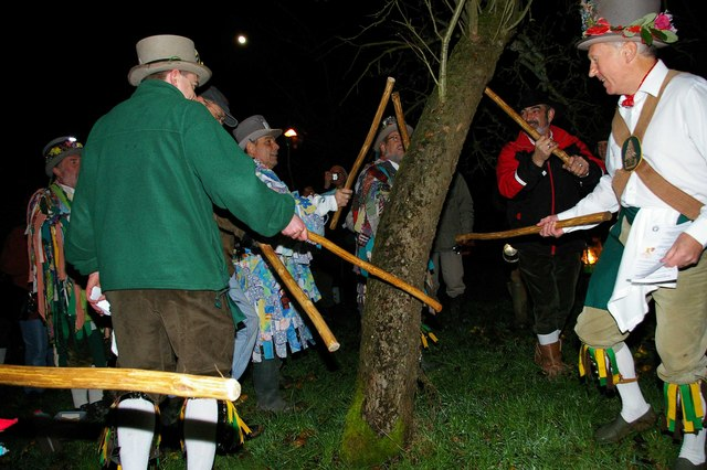 The traditional winter wassail is still performed in England today.